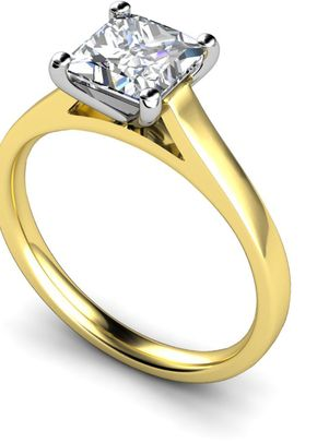 18ct Yellow Princess Cut Diamond Engagement Ring, Je t'aime