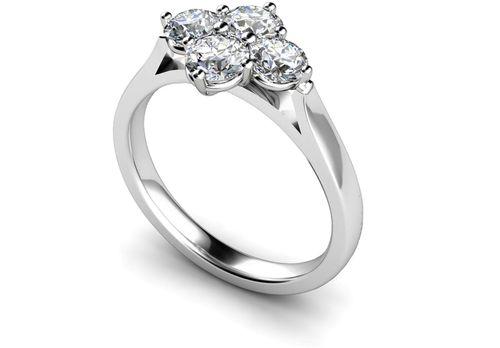 MT004 008 Four Stone Diamond Ring, Je t'aime