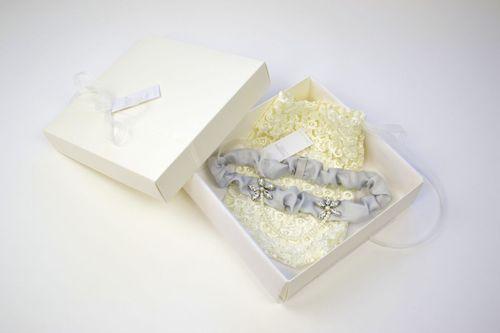 Iva Garter - Silver Blue, Britten Bridal Garters