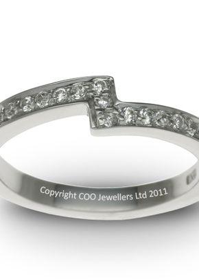 Shaped Wedding Ring 3, COO Jewellers Hatton Garden