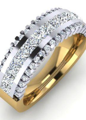 Half ET Two Colour, Goldfinger Rings