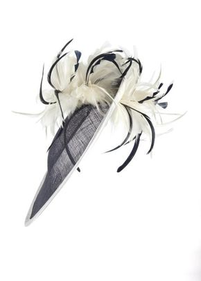 Navy/Ivory Feathers Mid Hatinator, Chesca Accessories