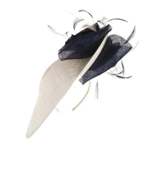 Vanilla/Navy Trim Hatinator, Chesca Accessories