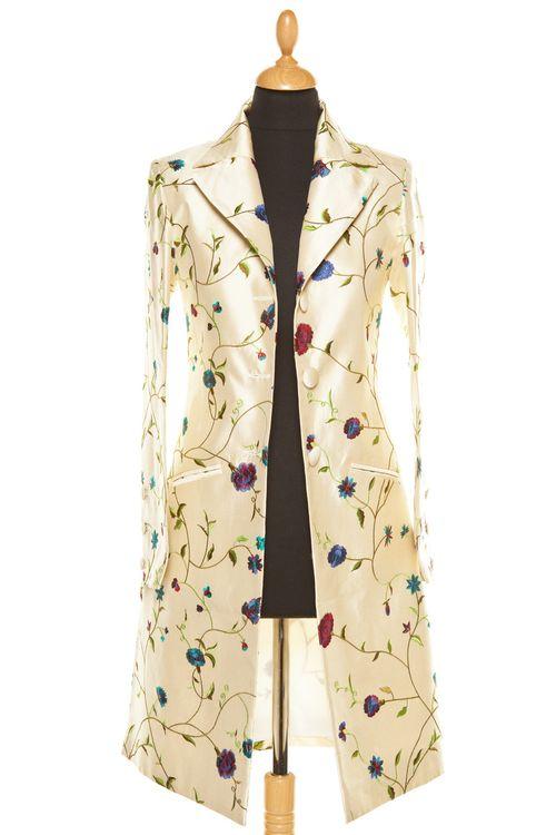 Silk Coat Women Grace Porcelian, Shibumi