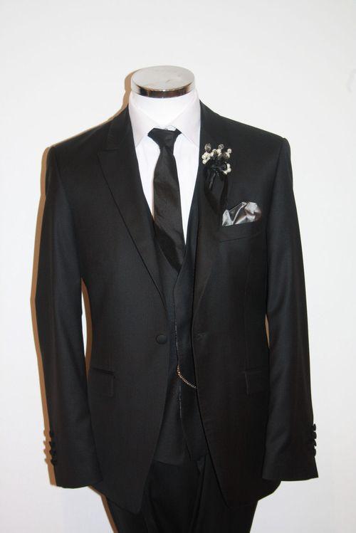 Black Lounge Suit, Black Waistcoat, STEPHEN BISHOP