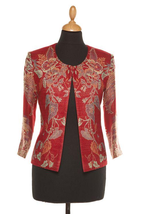 Cashmere Jacket Women Juna Crimson Red, Shibumi
