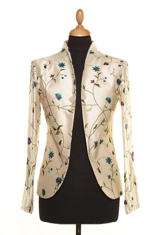 Silk Jacket Women Anya Porcelian, Shibumi