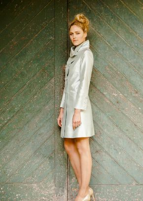Silk Coat Women Delphine Mint Ice, Shibumi