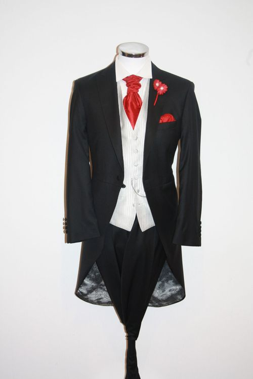 Black Tails, Striped Silver Waistcoat, STEPHEN BISHOP