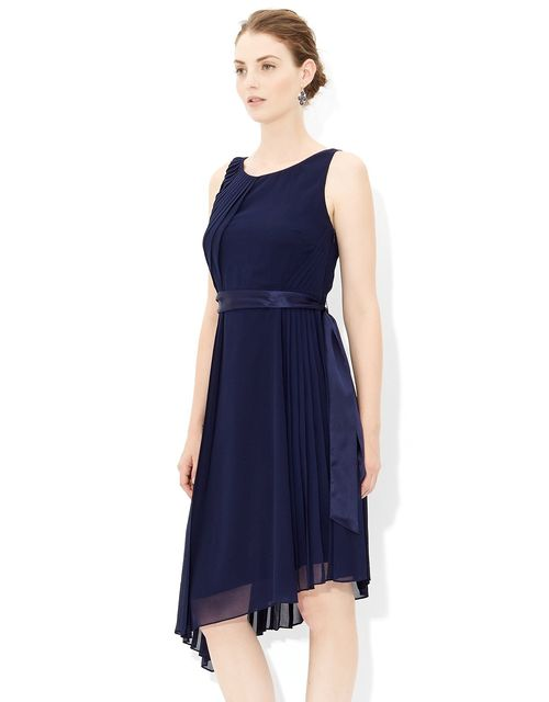 Whitney Pleat Dress in Navy, Monsoon Accessories