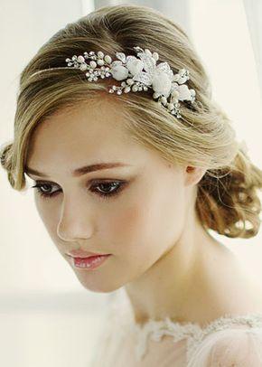 Clarissa Floral Side Tiara, Zaphira Bridal