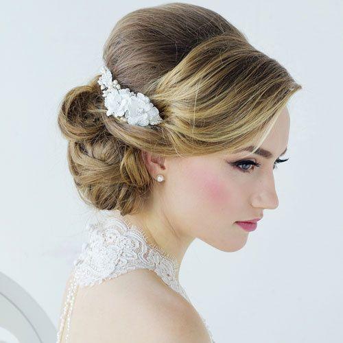 Anais Flower Hair Comb, Zaphira Bridal