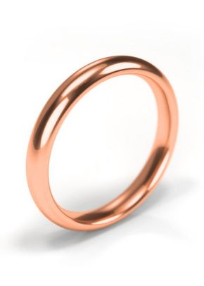 18ct Rose Gold Wedding Ring 3mm Band, House of Diamonds