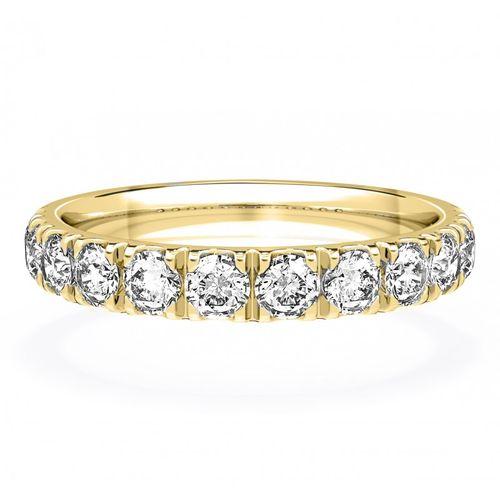 Diamond Set Wedding Ring in 18ct Yellow Gold 3mm, House of Diamonds