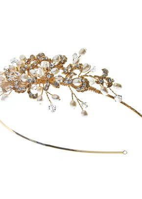Kensington Gold Side Tiara, Aye Do Wedding Accessories