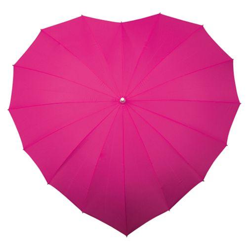 Hot Pink Heart Umbrella, Aye Do Wedding Accessories