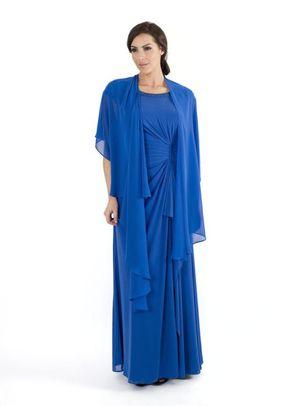 Capri Sequin Trim Long Mesh Dress, Chesca