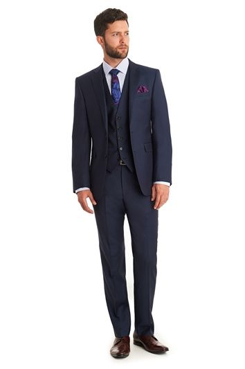 LANIFICIO F.LLI CERRUTI DAL 1881 TAILORED FIT SILVER SHARKSKIN MIX AND MATCH SUIT JACKET, Moss Bros