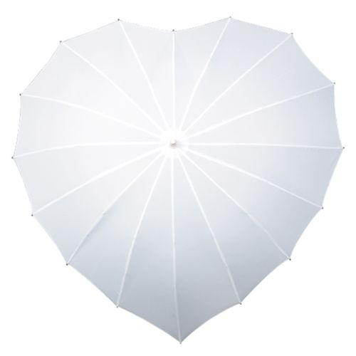 Heart Umbrella - White, Aye Do Wedding Accessories