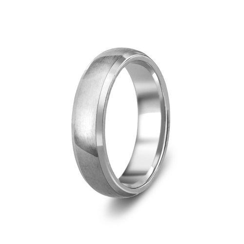 Diamond Cut Brushed Satin Wedding Ring, 5mm Band, House of Diamonds