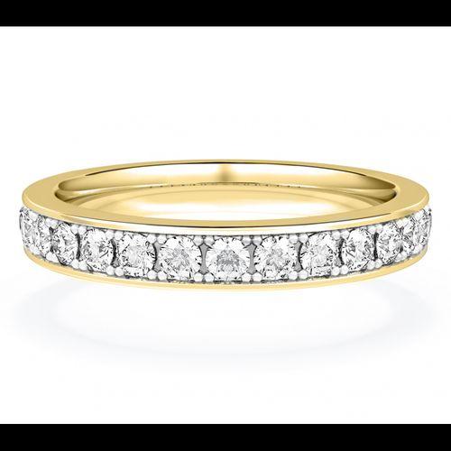 Diamond Set Wedding Ring in 18ct Yellow Gold, House of Diamonds