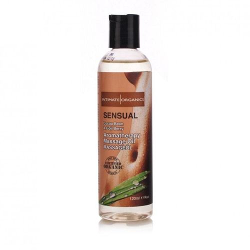 Intimate Organics Sensual Massage Oil, Queen Annes Lace