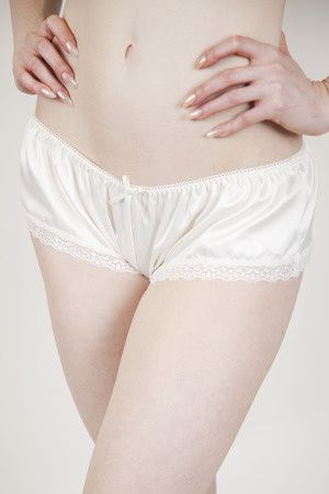 French Knicker in Ivory, Queen Annes Lace