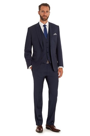 MOSS 1851 TAILORED FIT NEW BLUE MIX AND MATCH PEAK LAPEL JACKET, Moss Bros
