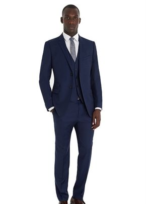 FRENCH CONNECTION SLIM FIT BRIGHT BLUE 3 PIECE SUIT, Moss Bros