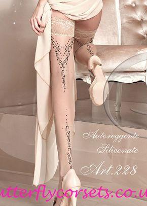 Ballerina Hold Ups Skin, Butterfly Corsets