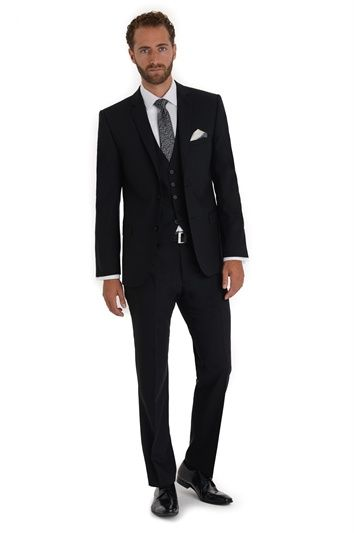 TED BAKER TAILORED FIT BLACK MIX AND MATCH PLAIN SUIT JACKET, Moss Bros
