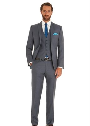 TED BAKER TAILORED FIT STEEL GREY MIX AND MATCH SUIT JACKET, Moss Bros