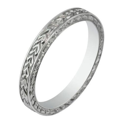 Laurel Engraved Wedding Ring, London Victorian Ring Co