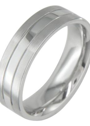 6mm Grooved Platinum Ring, London Victorian Ring Co