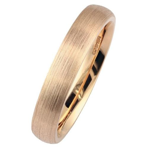 4mm Rose Gold D-Shape Wedding Ring, London Victorian Ring Co