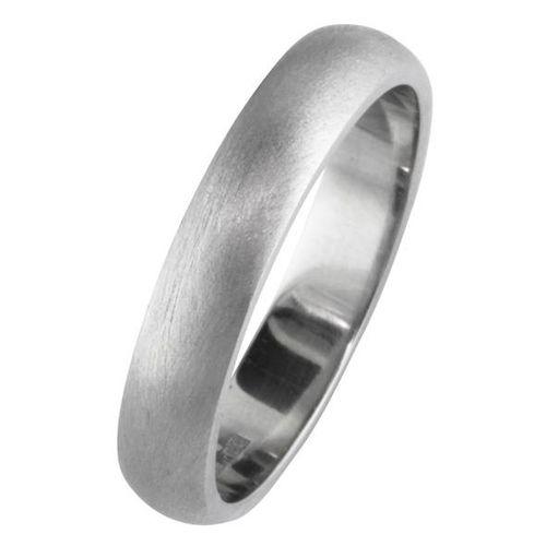 4mm Brushed Platinum Wedding Band, London Victorian Ring Co