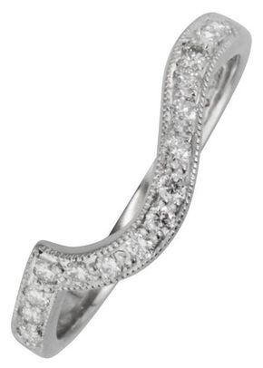 Shaped Diamond Wedding Ring, London Victorian Ring Co