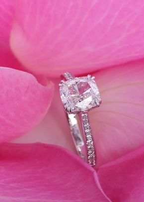 Diamond cushion cut, James Veale Jewellery