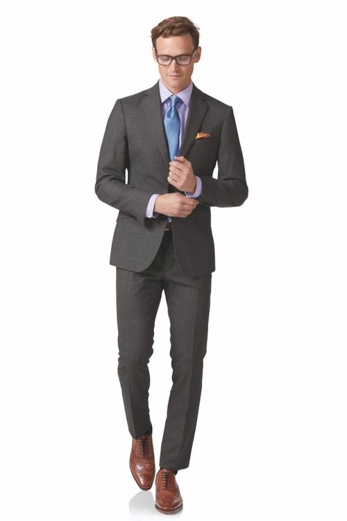 Grey extra slim fit business suit, Charles Tyrwhitt