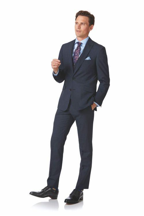 Blue stripe slim fit twist business suit, Charles Tyrwhitt