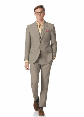 Natural Panama slim fit British suit, Charles Tyrwhitt