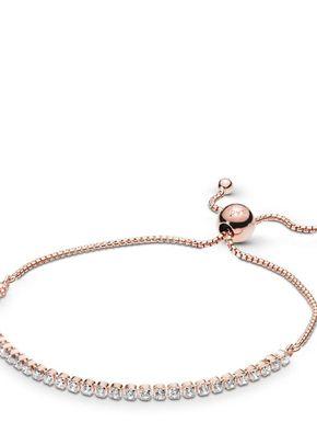 Rose sparkling strand bracelet, Pandora