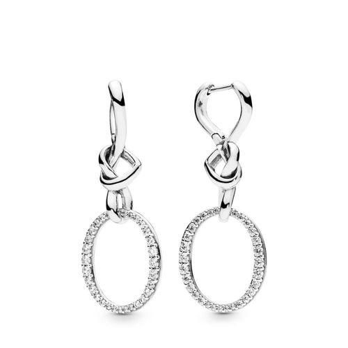 knotted heart drop earrings, Pandora