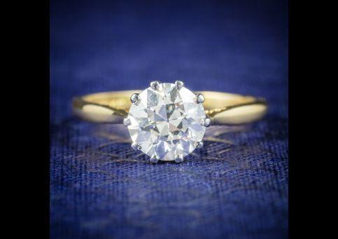 Antique Victorian Diamond Engagement Ring 18ct Gold Circa 1900 2, Laurelle Antique Jewellery