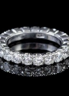 Vintage Diamond Eternity Ring Circa 1930, Laurelle Antique Jewellery