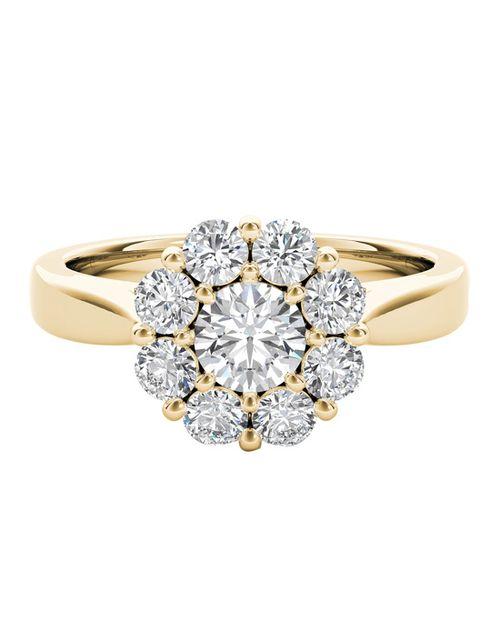 The Diamond Story 18ct Yellow Gold 1ct Total Diamond Ring, Ernest Jones