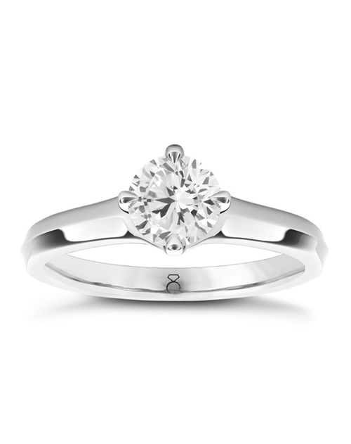 The Diamond Story 18ct White Gold 0.50ct Diamond Ring, Ernest Jones
