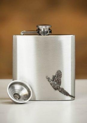 English Pewter Co. Country Living Pheasant Pewter Hip Flask - 6oz, Farrar & Tanner
