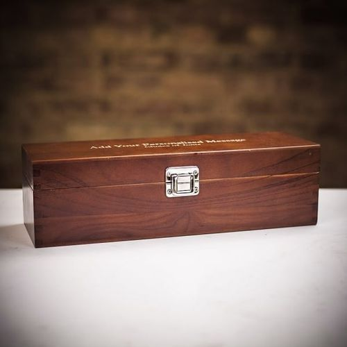 Moët & Chandon Ice Impérial Champagne in Personalised Premium Wood Gift Box, Farrar & Tanner