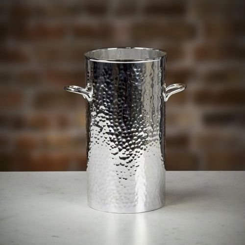 Culinary Concepts 'Let's Get Hammered' Silver-Plated Palace Bottle Holder - Tall, Farrar & Tanner